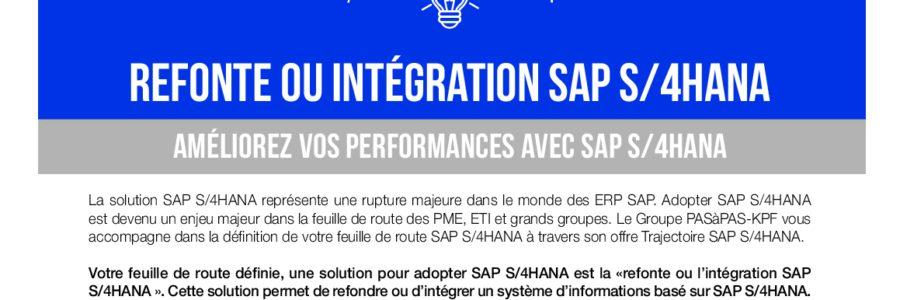 Refonte ou intégration SAP S4HANA