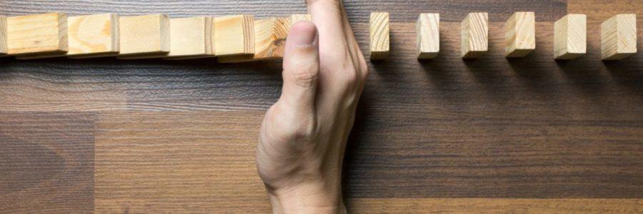 Domino risk effect concept